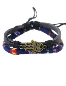 Pu Leather Adjustable Wrap Bracelet