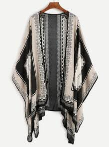 Black Tribal Print Kimono
