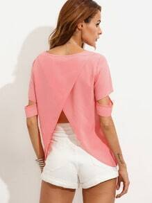 Pink Split Back T-shirt