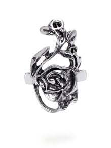 Antique Silver Flower Shaped Ring