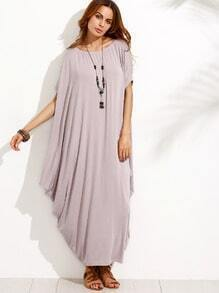 Pale Purple Dolman Sleeve Maxi Dress