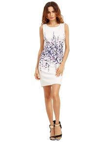 Multicolor Sleeveless Vintage Print Dress