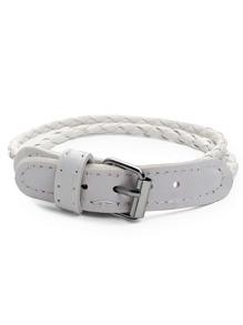 White Braided Buckle Bracelet