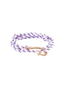 Gold Hook Clasp Navy Style Woven Bracelet