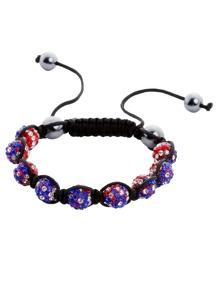 Black Braided Beaded Bracelet