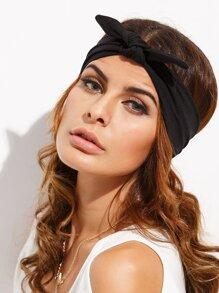 Black Knotted Bow Headband
