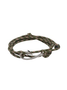 Hooks Army Green Braided Bracelet