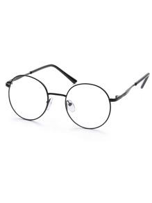 Black Metal Frame Round Glasses