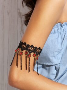 Black Handmade Jewelry Lace Arm Cuff