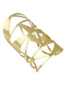 Gold 2016 New Hollow Out Big Statement Cuff Bracelet