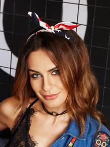 Color Block Bunny Ears Cute Headband