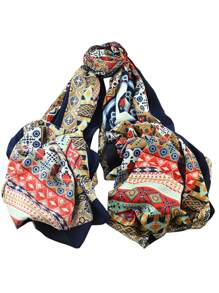Brown New Arrival Printed Cotton Soft Wide Scarf For Ladies
