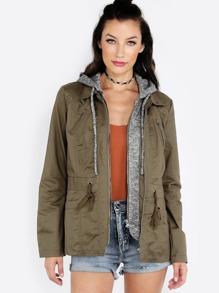 Hooded Anorak Jacket OLIVE