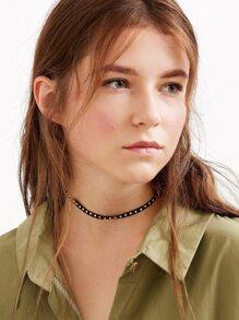 Black Suede Studded Choker Necklace