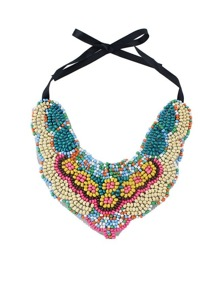 Chunky Statment Colorful Beads Necklace
