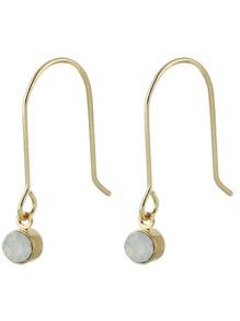Gold Color Long Stick Earrings For Women