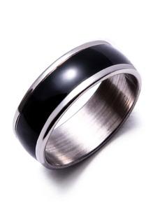 Silver Metal Oil Drop Finger Ring