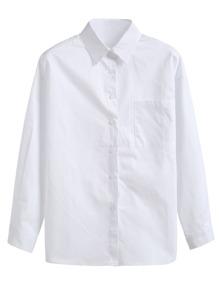 White Pocket Basic Shirt