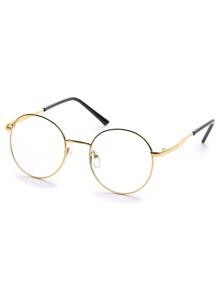 Golden Fashion Round Sunglasses