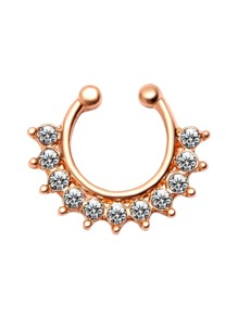 Gold Plated Rhinestone Nose Ring