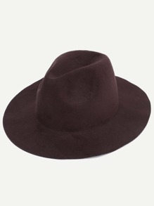 Coffee Stylish Fedora Hat