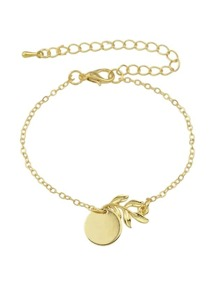 Simple Gold Color Chain Bracelet
