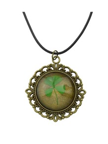 Vintage Design Big Flower Pendant Long Necklace