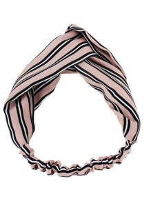 Pink New Stripes Elastic Headband Accessories
