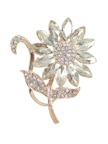 Elegant Rhinestone Flower Wedding Party Brooch For Women