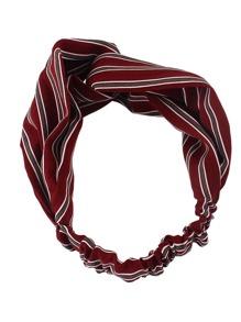 Red New Stripes Elastic Headband Accessories