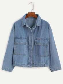Blue Boyfriend Style Denim Jacket