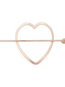 Rosegold Simple Heart Shape Hair Clip For Women