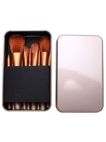 12PCS Gold Professional Makeup Brush Set With Metal Box