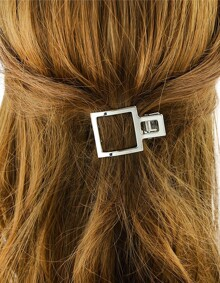 Silver Plated Geometric Hair Comb