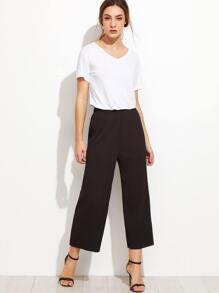 Black Pleated Wide Leg Pants
