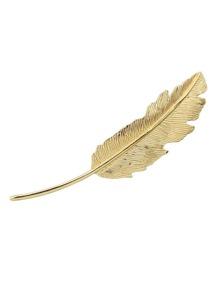 Gold Leaf Shape Hair Clip