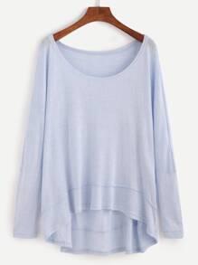 Blue Dip Hem T-shirt