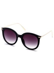 Black Frame Metal Arm Sunglasses