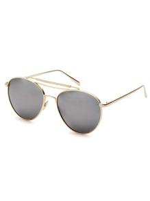 Gold Frame Triple Bridge Sunglasses