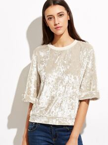 Apricot Crushed Velvet Top