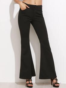 Black Low Rise Flare Pants