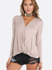 Quarter Sleeve Wrap Over Top ICED COFFEE