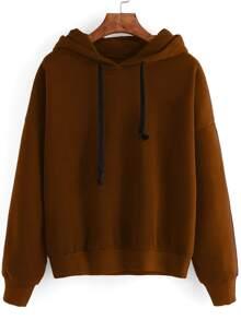 Drop Shoulder Hooded Sweatshirt