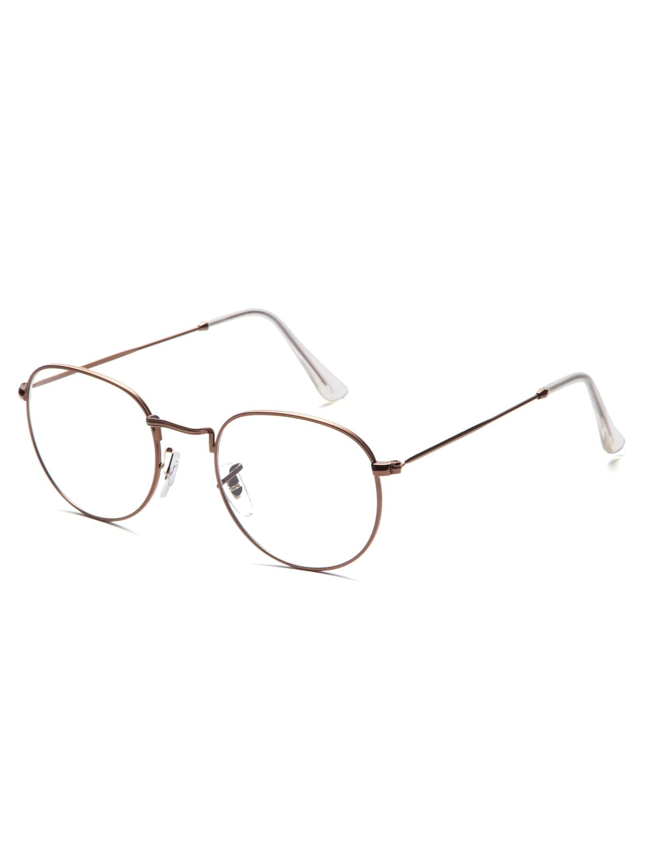 Brown Thin Frame Clear Lens Glasses EmmaCloth-Women Fast Fashion Online