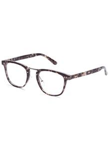 Grey Tortoise Frame Clear Lens Glasses