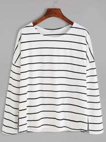 Striped Drop Shoulder T-shirt