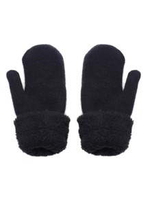 Black Fleece Cuff Gloves