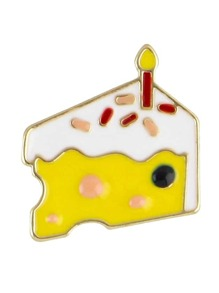 Cake Latest Cute Colorful Enamel Cake Shape Brooch