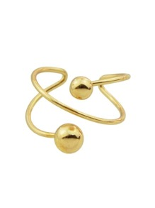 Gold Fancy Style Metal Cuff Band Ring