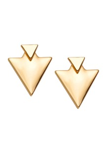 Gold Plated Triangle Stud Earrings